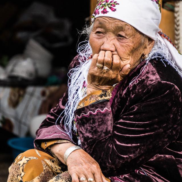 """Elderly woman"" stock image"