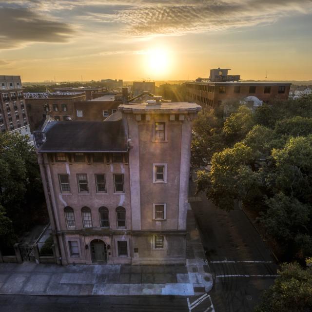 """Savannah Historic District Sunrise"" stock image"