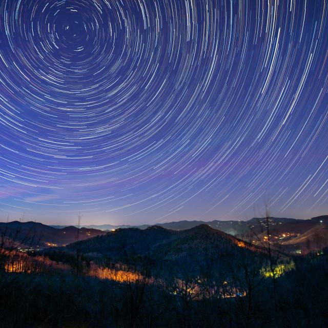 """Starry Night in North Georgia"" stock image"