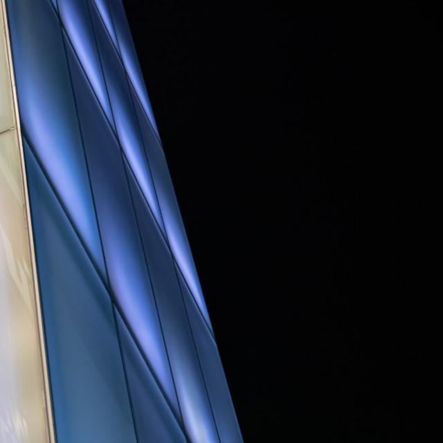"""""""Blue Light facade - bangkok"""" stock image"""