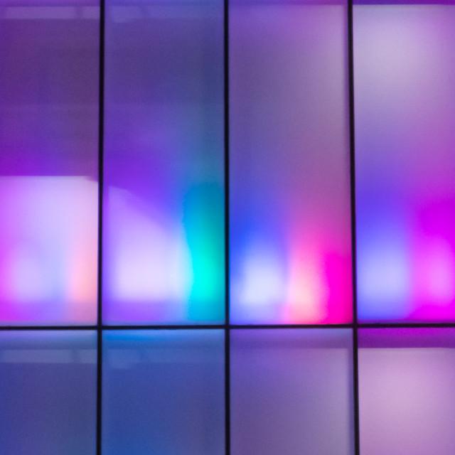 """""""neon multi-color facade - bangkok"""" stock image"""