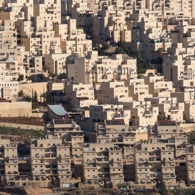 """""""Israeli settlement"""" stock image"""