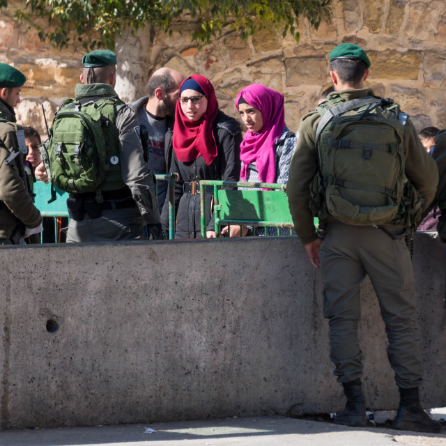 """Palestinian checkpoint"" stock image"