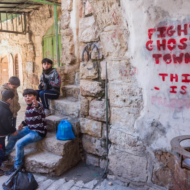"""Ghost town of Hebron"" stock image"