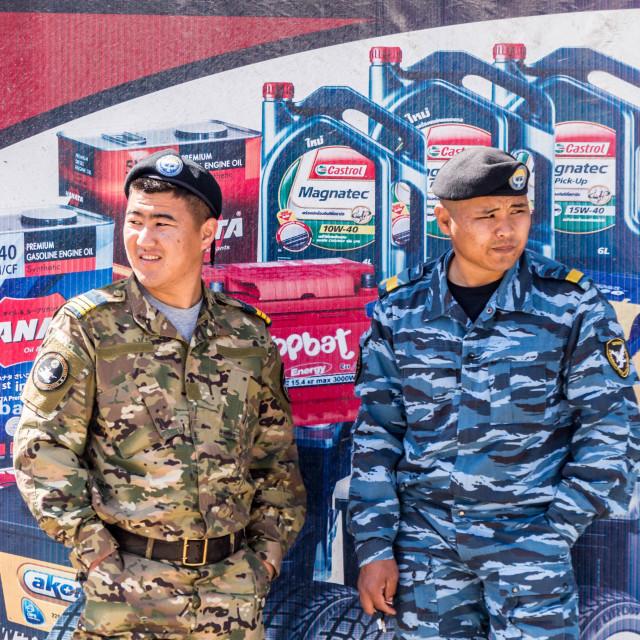 """Kyrgyz Soldiers"" stock image"