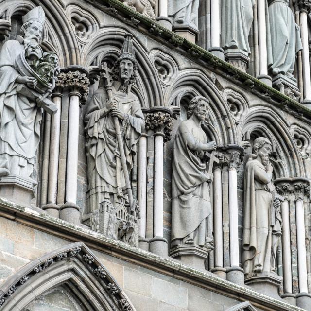 """""""Detail, Nidaros Cathedral, Trondheim, Norway"""" stock image"""