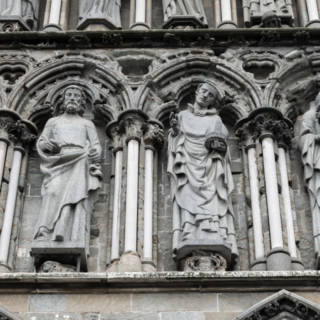 """""""Details, Nidaros Cathedral, Trondheim, Norway"""" stock image"""