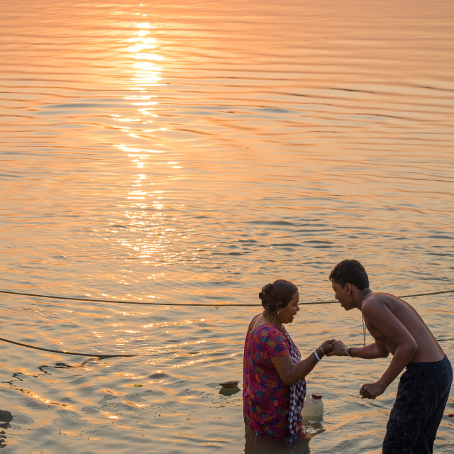 """""""Sunset on the Holy River"""" stock image"""