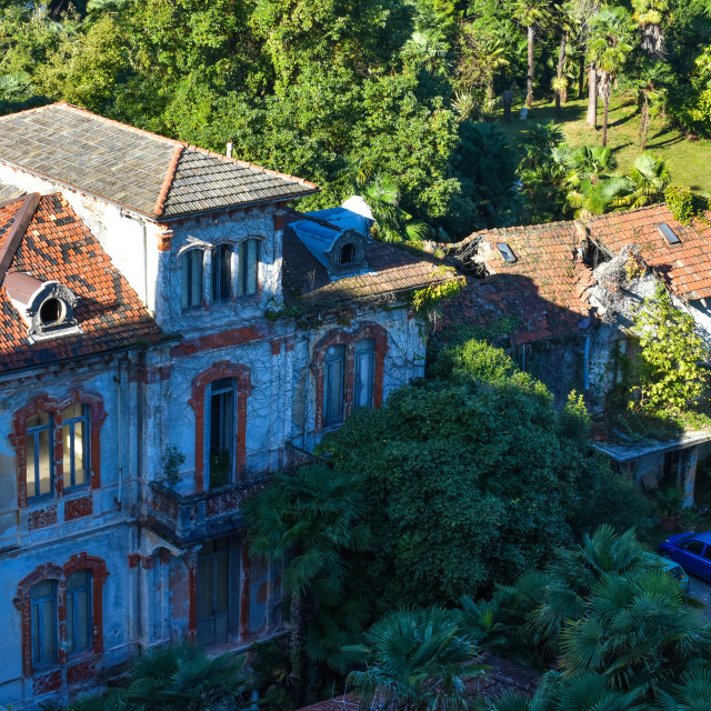 """Abandoned Villa in Stresa"" stock image"