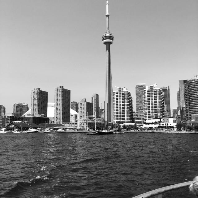 """The CN Tower, Toronto, Canada."" stock image"