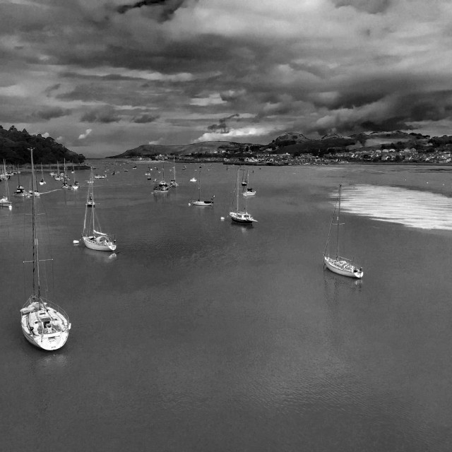 """""""Conwy Estuary, North Wales."""" stock image"""