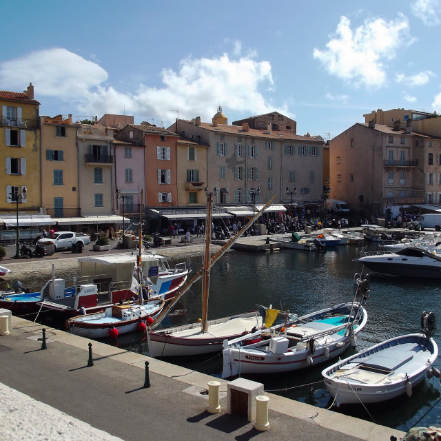 """St Tropez Harbour"" stock image"