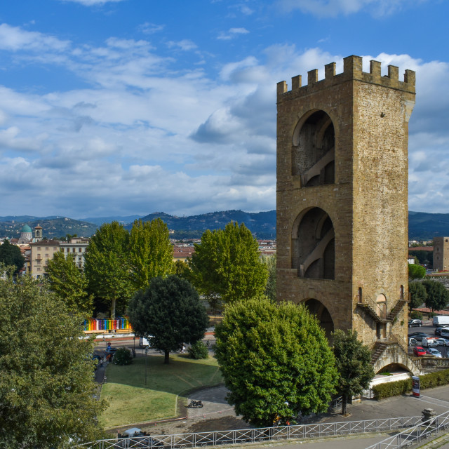 """St Nicholas Tower in Florence"" stock image"