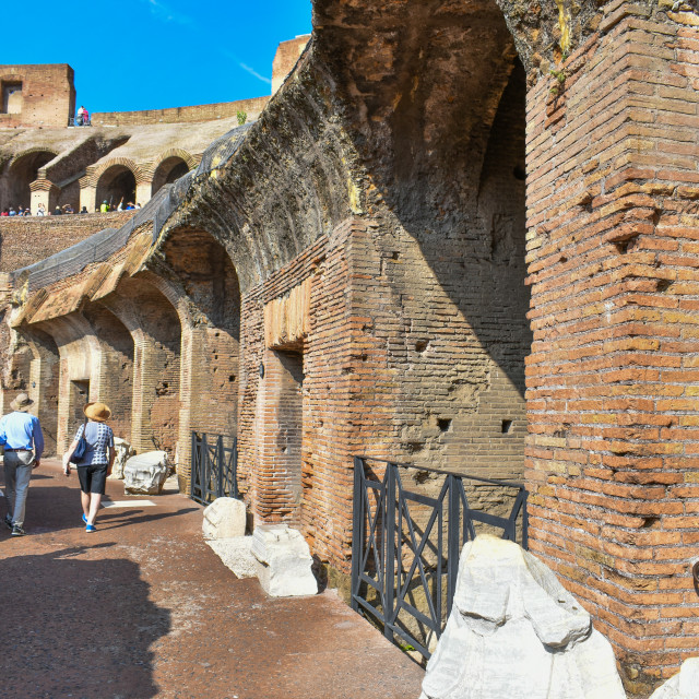 """Colloseum Walkway"" stock image"