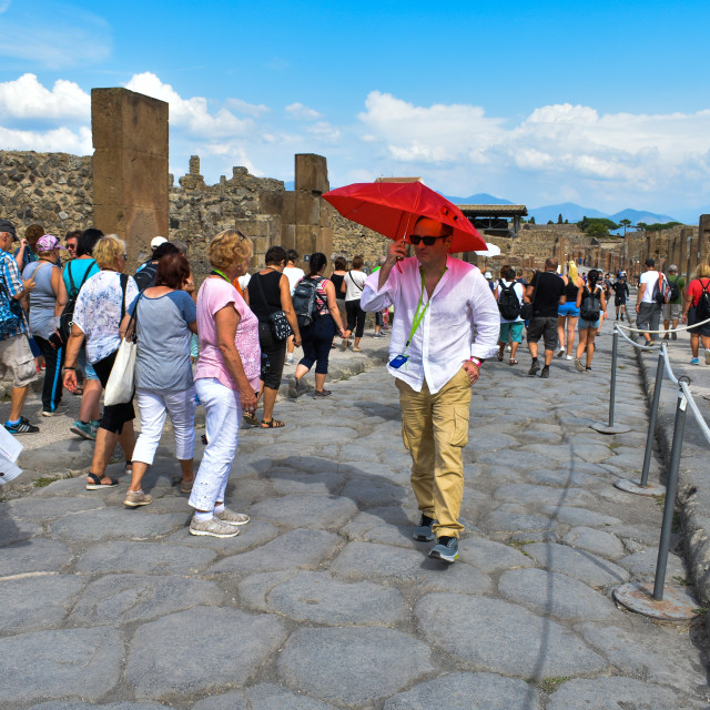 """Crowds in Pompeii"" stock image"