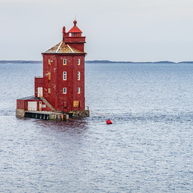 """""""Kjeungskjær Lighthouse"""" stock image"""