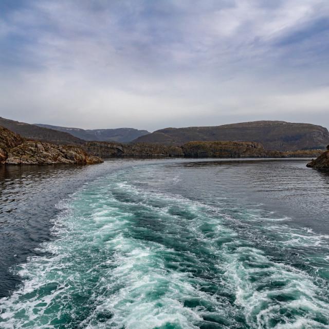 """Cruising Around the Islands of Norway"" stock image"