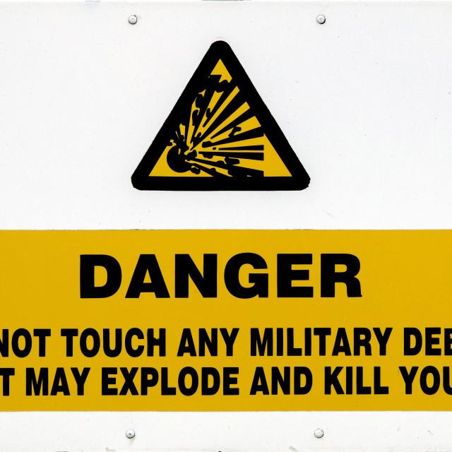 """""""Danger"""" stock image"""
