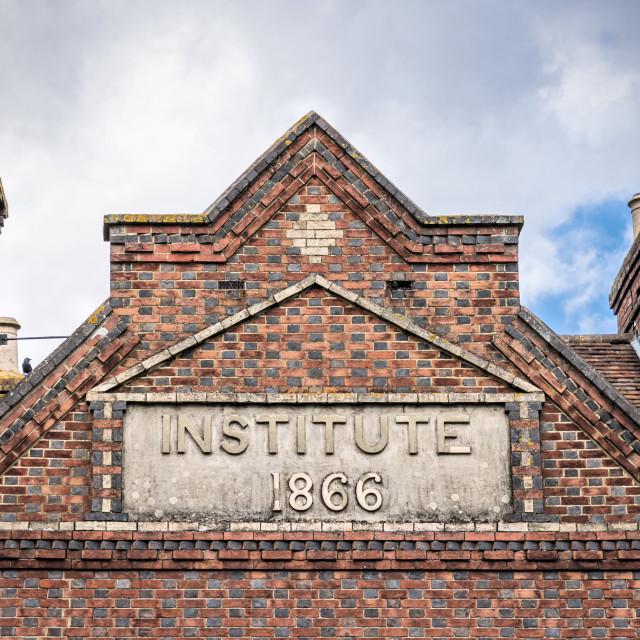 """""""Institute 1866"""" stock image"""