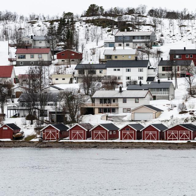 """Coastal Town, Norway"" stock image"