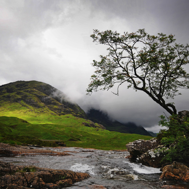 """Stormy sky near Glencoe."" stock image"
