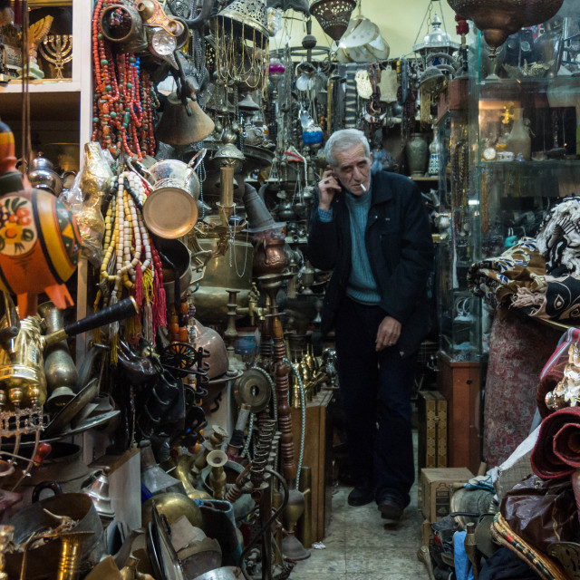 """Palestinian Shopkeeper"" stock image"