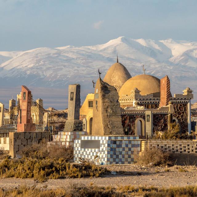 """""""Kyrgyz Cemetery"""" stock image"""