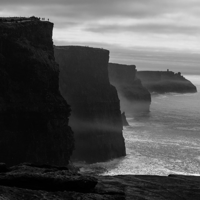 """""""Cliffs silhouette"""" stock image"""