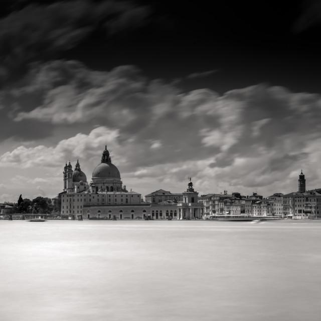 """""""View of Basilica di Santa Maria della Salute - venice"""" stock image"""