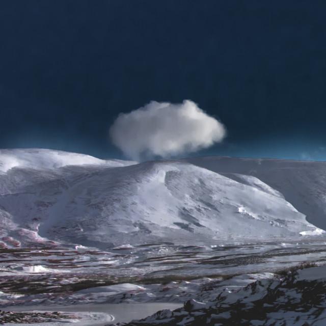 """a cloud - framland - iceland"" stock image"
