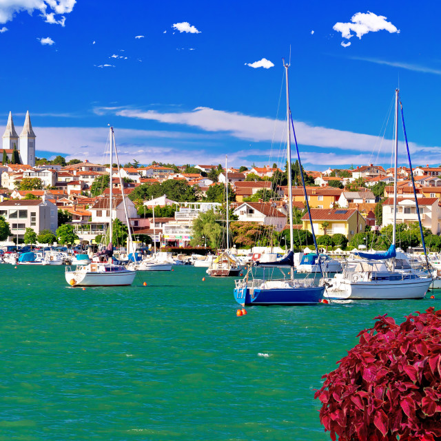 """""""Town of Medulin waterfront panoramic view"""" stock image"""