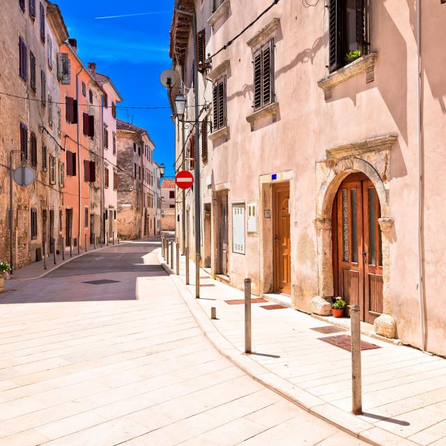 """Mediterranean stone street of Vodnjan view"" stock image"