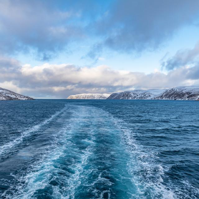 """Cruising in Norway"" stock image"