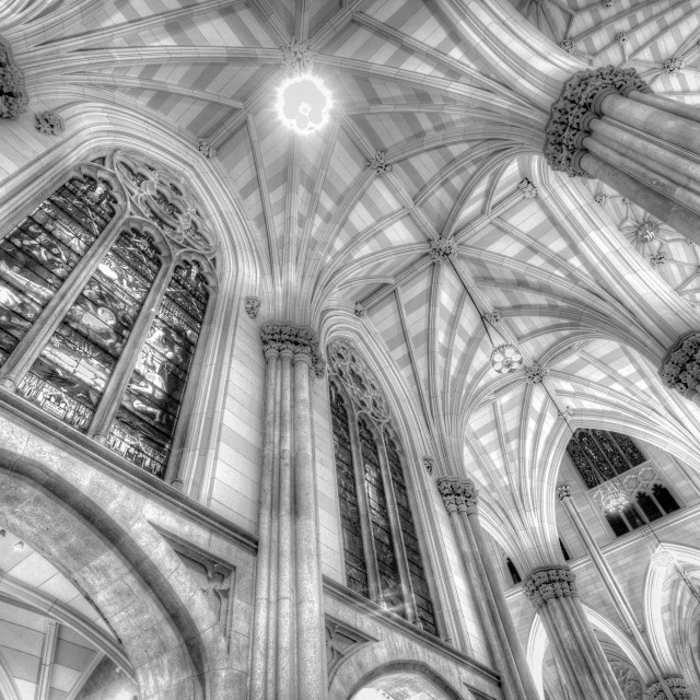 """""""St Patrick's Cathedral Infrared"""" stock image"""
