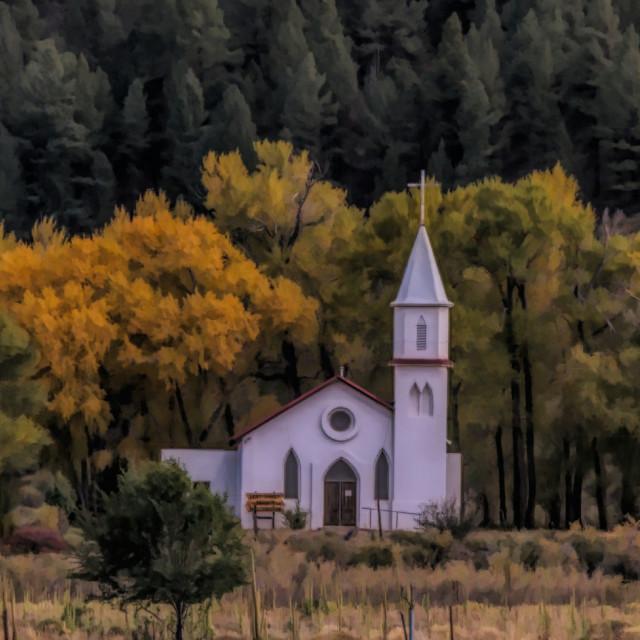 """Church ~ South Fork ~ Colorado"" stock image"