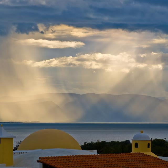 """Rainstorm in the Light ~ Ajijic ~ Mexico"" stock image"