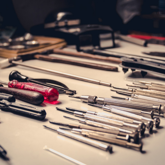 """Watchmaker toolkit"" stock image"