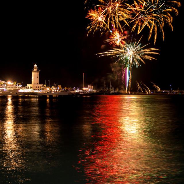 """Fireworks in Malaga"" stock image"