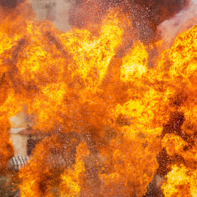 """""""Abstract of fire flame exploding"""" stock image"""