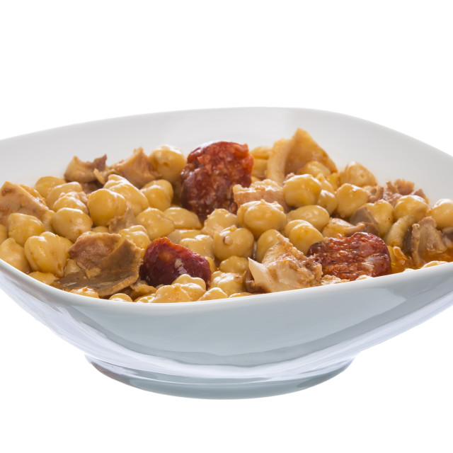 """""""Stew of chickpeas with meat"""" stock image"""