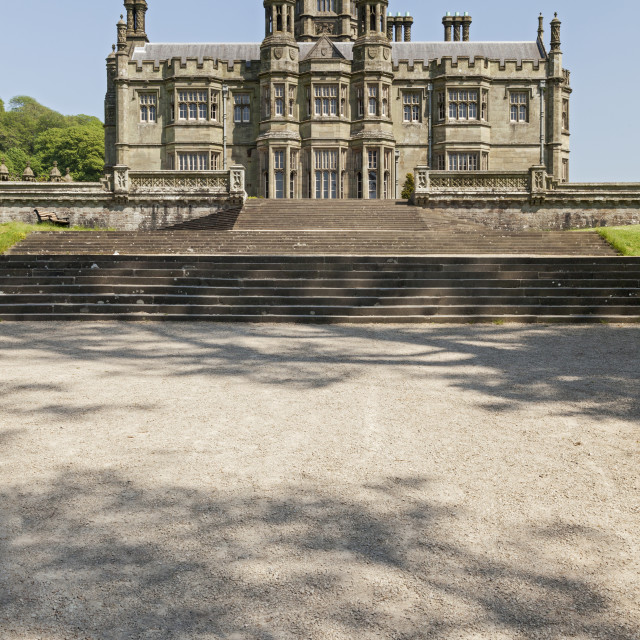 """Margam Castle (1830), Margam Country Park, Margam, Port Talbot, South Wales, UK"" stock image"