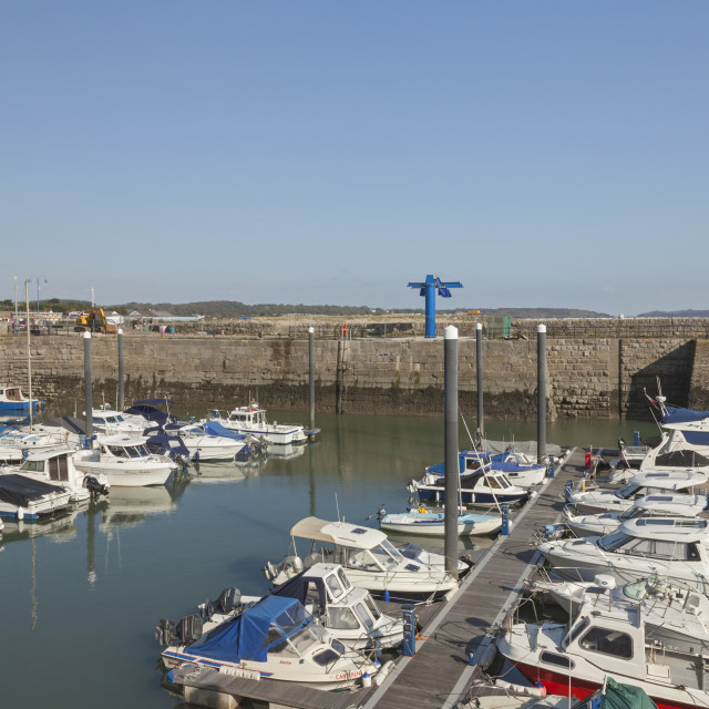 """Porthcawl Marina, Porthcawl, Bridgend, South Wales, UK"" stock image"