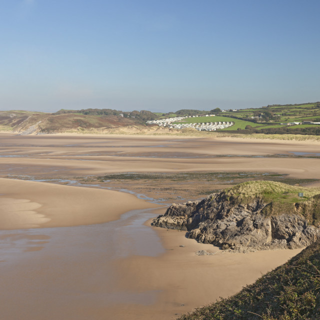"""Broughton Bay, Gower Peninsula, Swansea, South Wales, UK"" stock image"