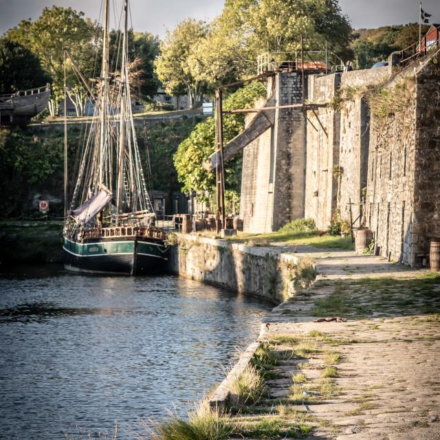 """""""Charlestown, Cornwall"""" stock image"""