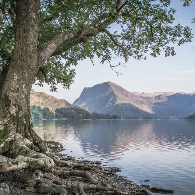 """""""View of Buttermere Water in the Lake District"""" stock image"""