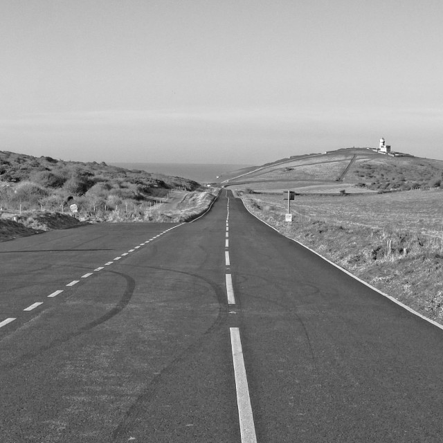 """""""ROAD TO BIRLING GAP"""" stock image"""