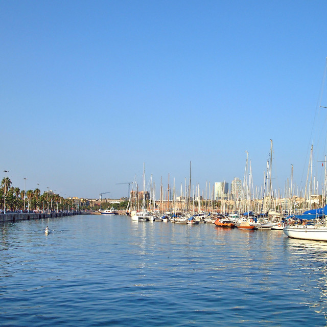 """Barcelona Harbour, Spain"" stock image"