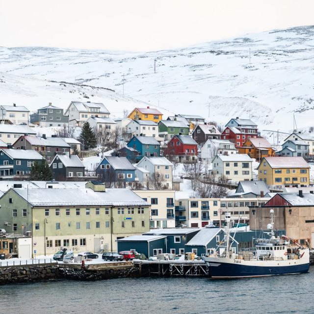 """Honningsvag, Norway"" stock image"