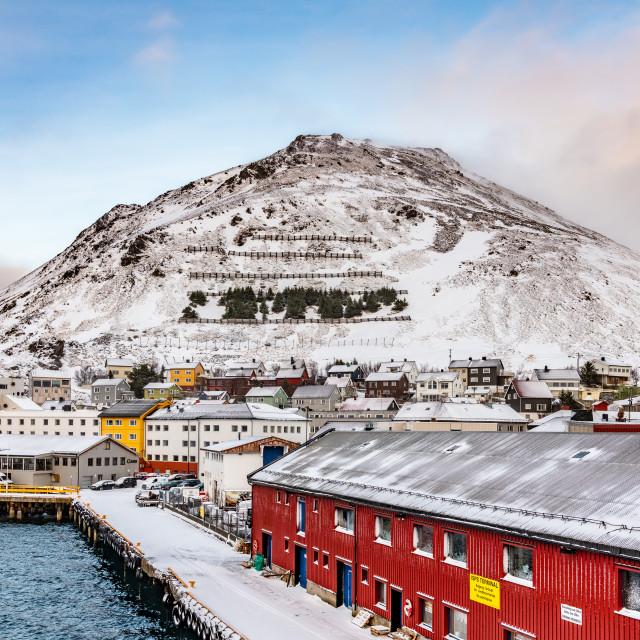 """Honningsvag,Norway"" stock image"