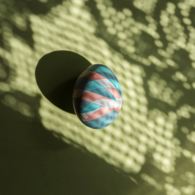 """""""Colorful egg easter painted with natural dyes on shadows and col"""" stock image"""